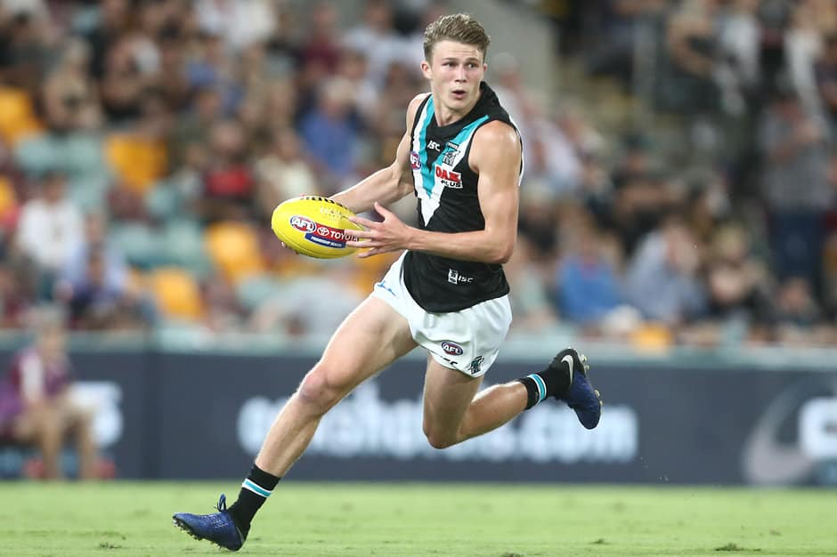 Young Port Adelaide winger Xavier Duursma will have his foot assessed before this weekend's clash with Fremantle. - Port Adelaide Power,North Melbourne Kangaroos,Xavier Duursma