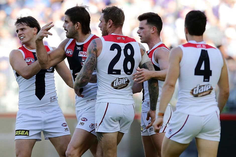 St Kilda will hope to claim one more win at Marvel Stadium this season when they face Fremantle. - St Kilda Saints,Fremantle Dockers