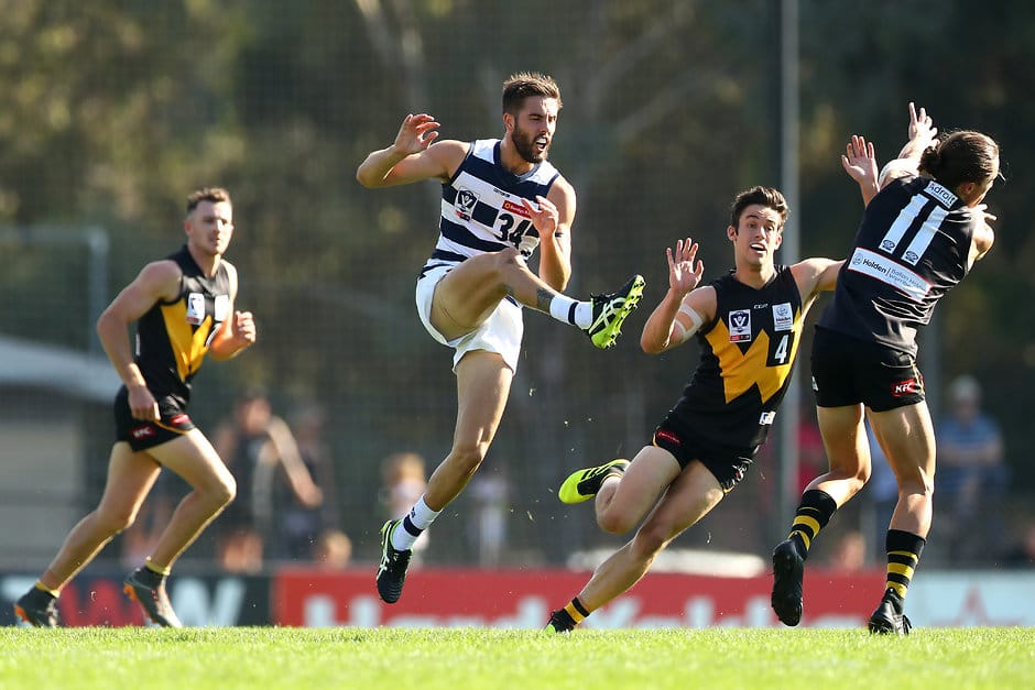 James Parsons in action against Werribee in round three. - Geelong Cats