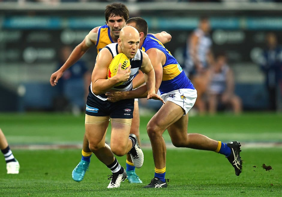 Gary Ablett was the star performer last time the two sides met with 28 touches and two goals. - Geelong Cats,West Coast Eagles