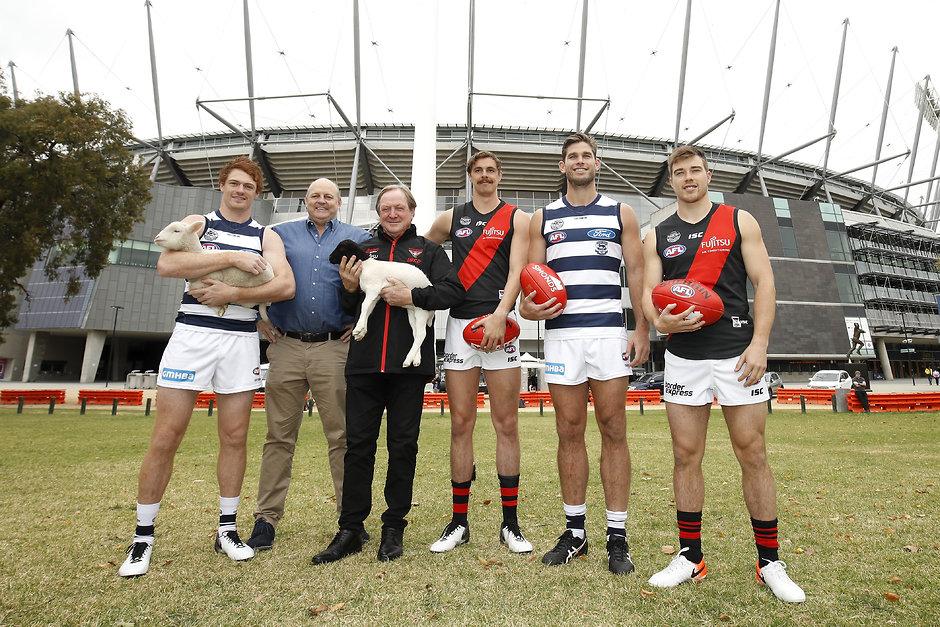 Gary Rohan, Billy Brownless, Kevin Sheedy, Joe Daniher, Tom Hawkins and Zach Merrett. - Geelong Cats,Tom Hawkins,Gary Rohan