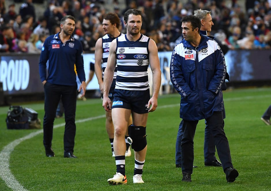Patrick Dangerfield will have scans on his knee today. - Geelong Cats,Patrick Dangerfield