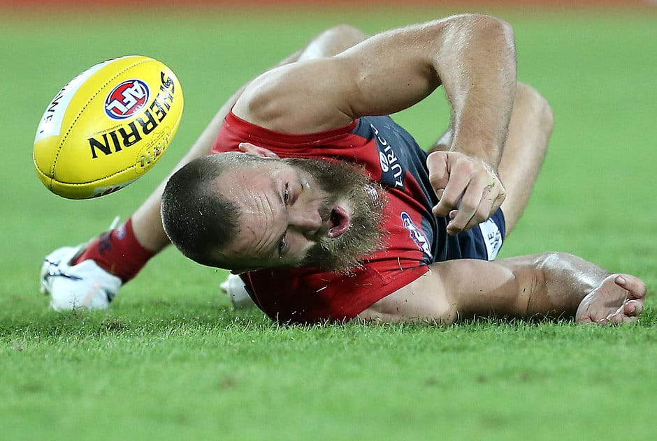 Jono Searle's award-winning picture of Melbourne ruckman Max Gawn - AFL