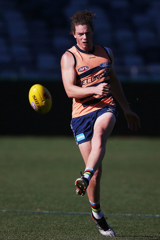 Wylie Buzza at training earlier this week. - Wylie Buzza,Geelong Cats