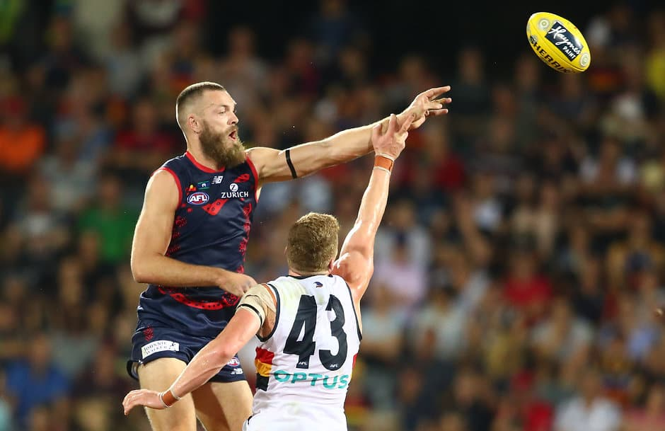Max Gawn missed last weekend's win over Carlton with an ankle injury - AFL,Melbourne Demons,Simon Goodwin,Max Gawn,Braydon Preuss
