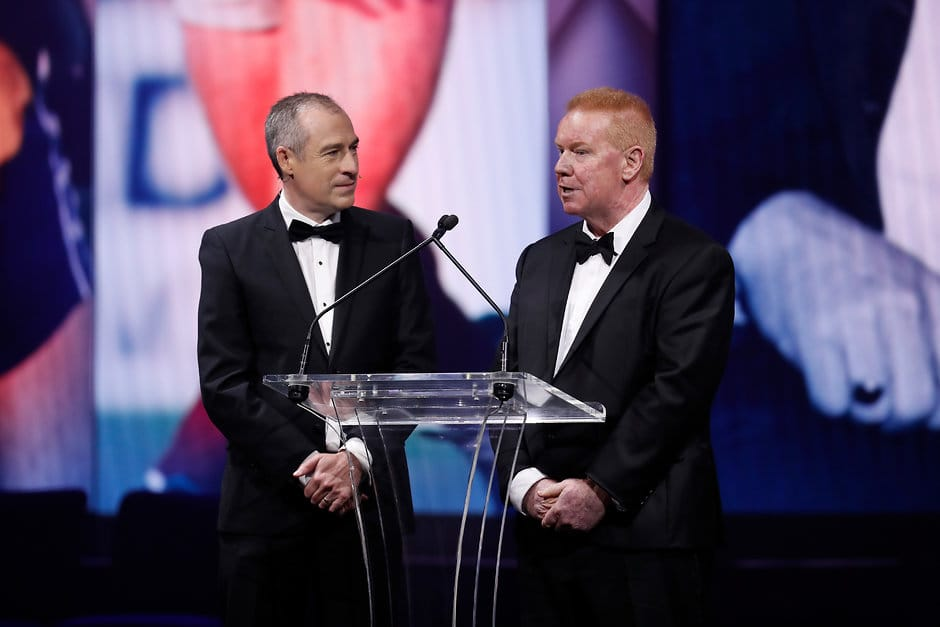 Brad Hardie was inducted into the Australian Football Hall of Fame on Tuesday night. - Western Bulldogs