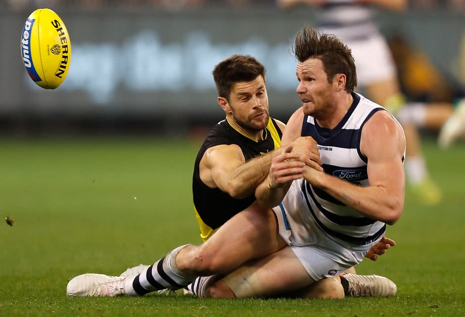Patrick Dangerfield has been outstanding in the past fortnight - AFL,Brownlow,Geelong Cats,Patrick Dangerfield,Tim Kelly,Patrick Cripps