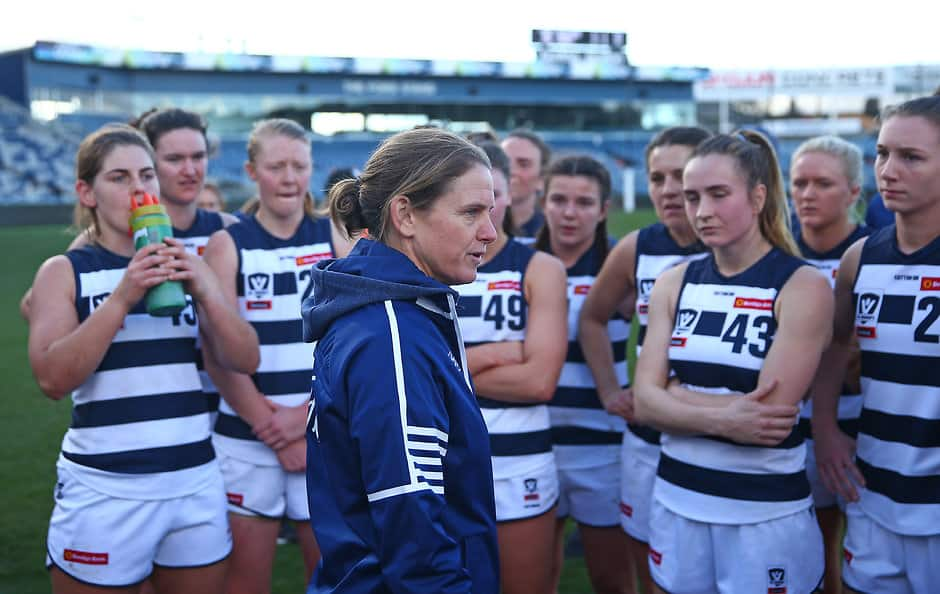 Women's and NGA Assistant Coach Natalie Wood. - Geelong Cats,Georgie Rankin
