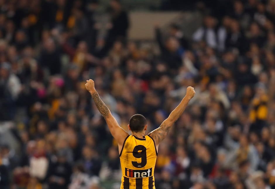 Shaun Burgoyne could play on for a 19th AFL season. All pictures: AFL Photos - AFL,Hawthorn Hawks,Shaun Burgoyne,Contracts,Trade