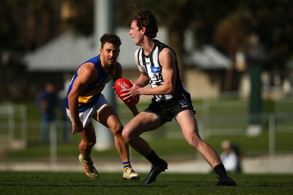 Tyler Brown will be looking to keep pressing his claims for an AFL debut - Collingwood Magpies,Melbourne Demons