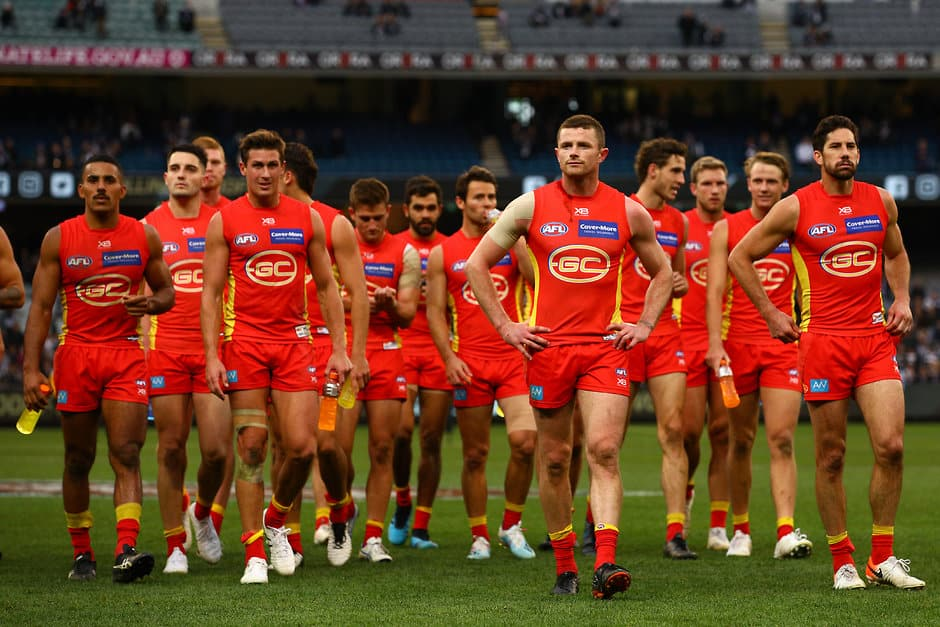 The Suns' 2019 on-field pain will extend to the upcoming NAB AFL Trade Period. All pictures: AFL Photos - AFL,Gold Coast Suns,Brisbane Lions,Ely Smith,Tag-Trade,Trade