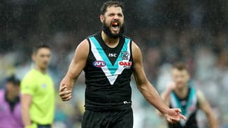 Paddy back? Power ruckman meets with Bombers
