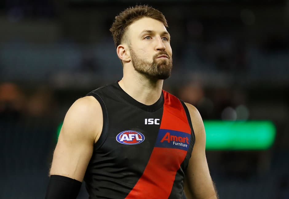 Cale Hooker is a late out for the Bombers. Picture: AFL Photos - AFL,Collingwood Magpies,Essendon Bombers
