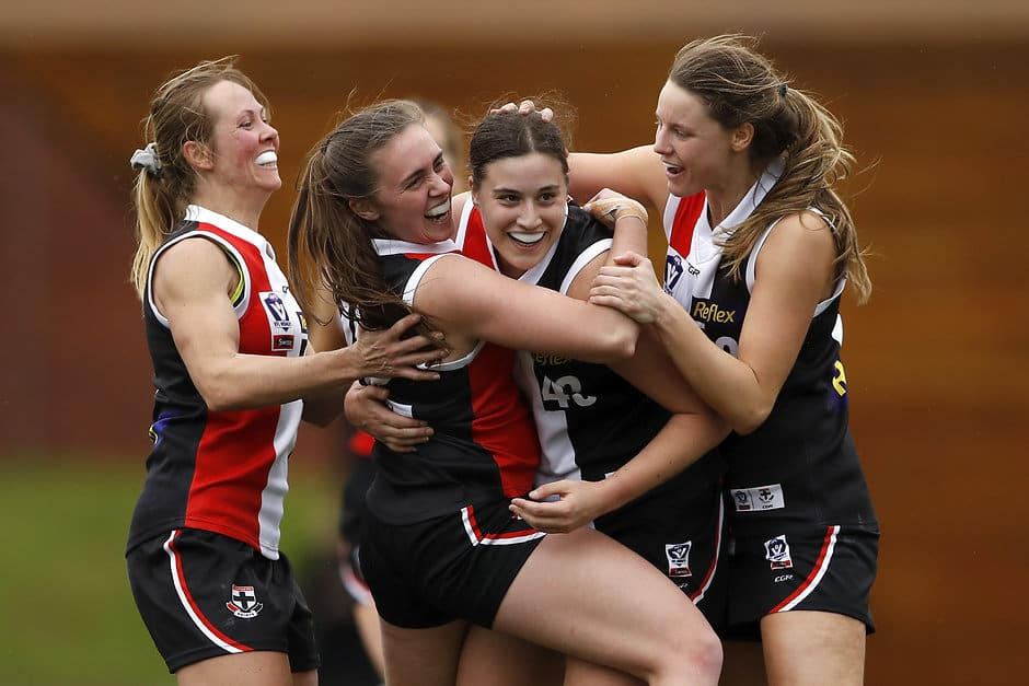 Caitlin Greiser starred in the Southern Saints semi-final victory - St Kilda Saints,AFLW