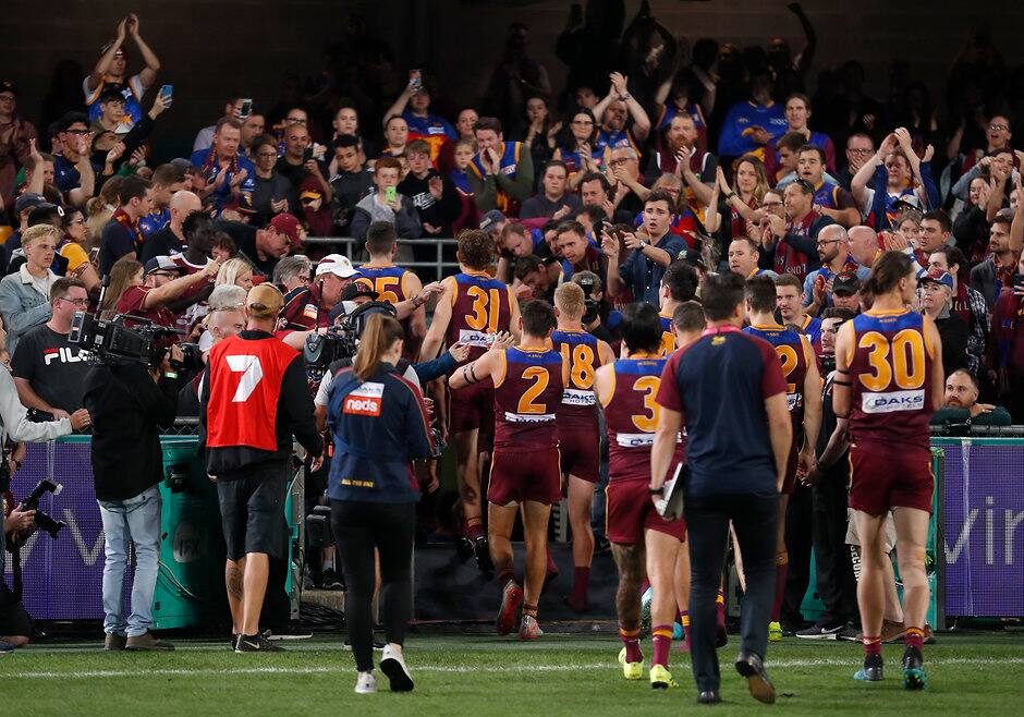 The Lions leave the Gabba after losing the semi-final. All pictures: AFL Photos - AFL,Season reviews,Tag-Analysis,Brisbane Lions