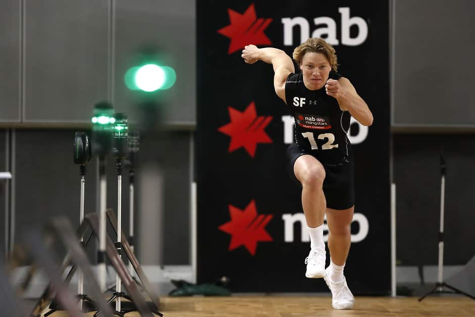 Cody Weightman is rated one of the best small forwards in this year's draft. All pictures: AFL Photos - AFL,Lifestyle,Perspective,News,Profile,Draft,Tag-Draft,Cody Weightman