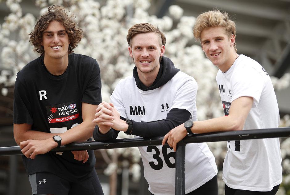 Luke Jackson, Noah Anderson and Dylan Stephens. - Geelong Cats,Tag-Draft