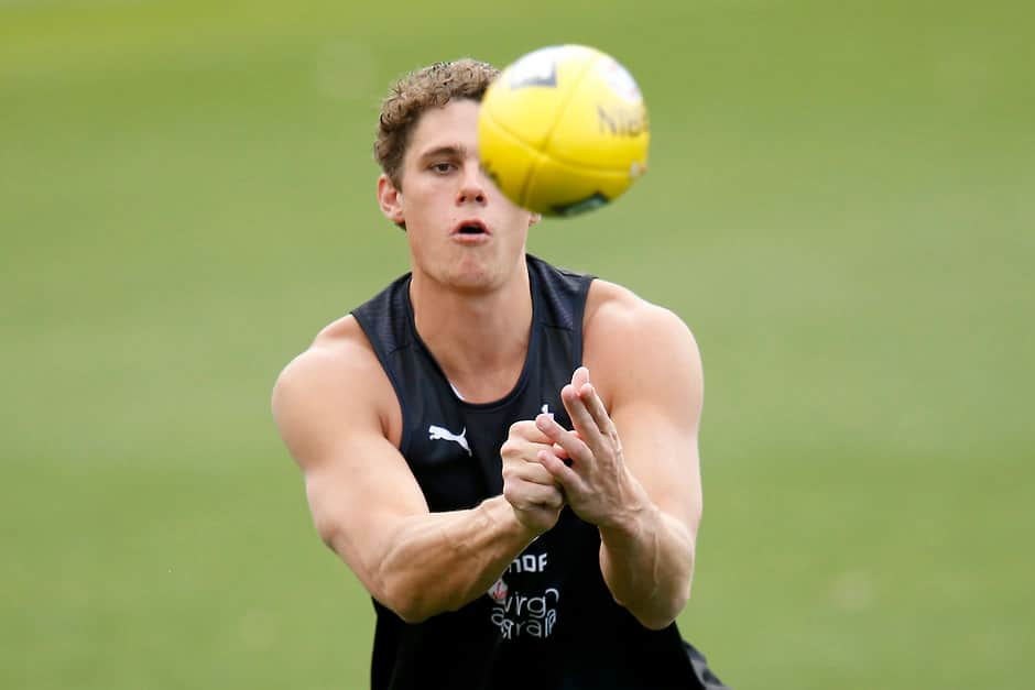 Charlie Curnow has come back to the club in 'really good condition' despite his knee injury - AFL,Update,News,Game,Carlton Blues,Charlie Curnow